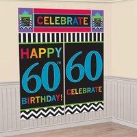 60-års födelsedag dekorbakgrund