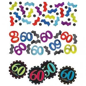 60-års födelsedag bordskonfetti - 34 g