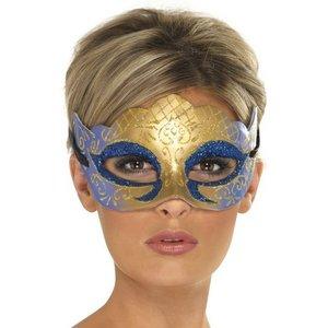 Mask venetiansk colombina farfalla glitter