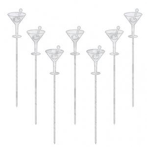 Cocktailpinnar som martiniglas 10 cm - 50 st