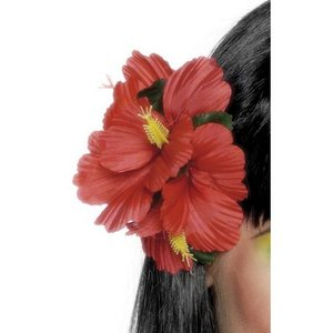 Hawaii-blomsterklämma röd