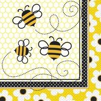 Servetter - Busy bees 33 cm16 st