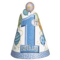 Partyhattar - Första födelsedagen blå 8 st