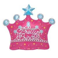 Vacker prinsesskrona folieballong - 64 cm