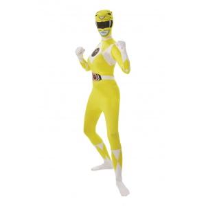Yellow Ranger second skin maskeraddräkt - Vuxen