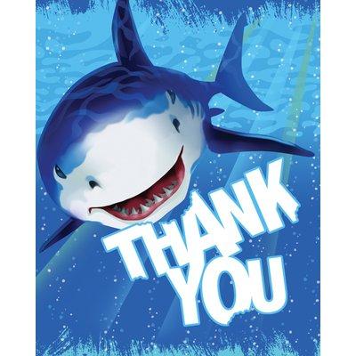 Tackkort Blå haj - 8 st