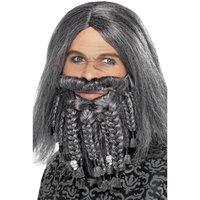 Pirat set peruk och skägg