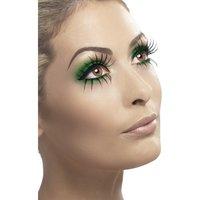Ögonfransar gotisk brud - Gröna och svarta
